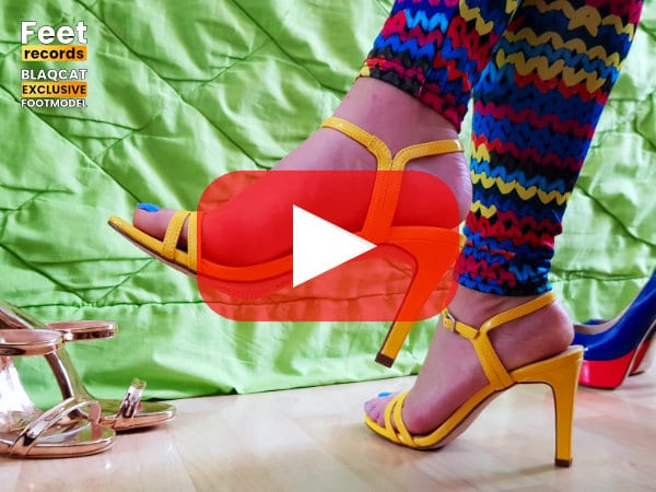 strappy high heels Video